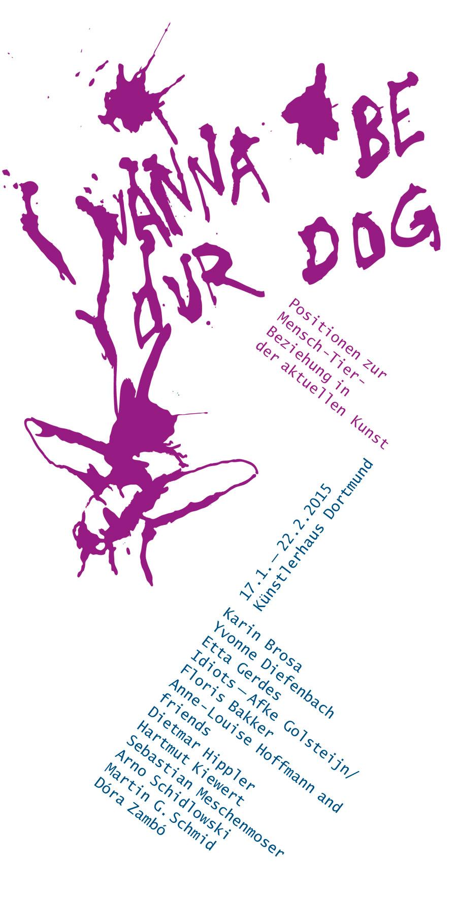 I Wanna Be Your Dog - Einladungskarte